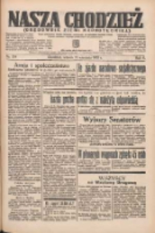 Nasza Chodzież: organ poświęcony obronie interesów narodowych na zachodnich ziemiach Polski 1935.09.17 R.6 Nr214
