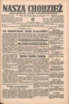 Nasza Chodzież: organ poświęcony obronie interesów narodowych na zachodnich ziemiach Polski 1935.09.18 R.6 Nr215