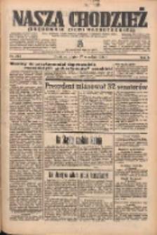 Nasza Chodzież: organ poświęcony obronie interesów narodowych na zachodnich ziemiach Polski 1935.09.27 R.6 Nr223