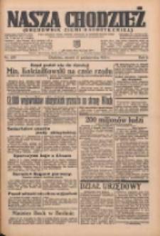 Nasza Chodzież: organ poświęcony obronie interesów narodowych na zachodnich ziemiach Polski 1935.10.15 R.6 Nr238