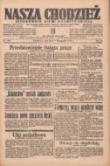 Nasza Chodzież: organ poświęcony obronie interesów narodowych na zachodnich ziemiach Polski 1935.11.07 R.6 Nr257