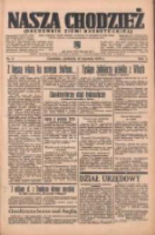 Nasza Chodzież: organ poświęcony obronie interesów narodowych na zachodnich ziemiach Polski 1936.01.12 R.7 Nr9