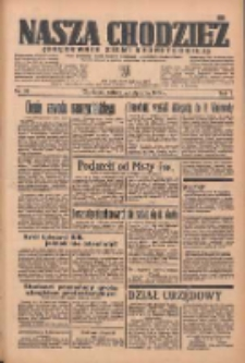 Nasza Chodzież: organ poświęcony obronie interesów narodowych na zachodnich ziemiach Polski 1936.01.25 R.7 Nr20