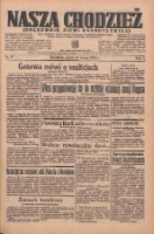 Nasza Chodzież: organ poświęcony obronie interesów narodowych na zachodnich ziemiach Polski 1936.03.13 R.7 Nr61