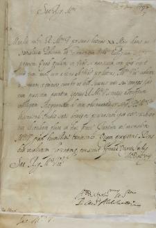 List kardynała Aldobrandiego do króla Zygmunta III, Ferrara 04.07.1598