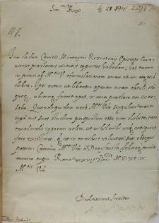List kardynała Aleksandra Montaltiusa do króla Zygmunta III, Rzym 27.09.1599