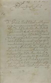 List Bernarda Maciejowskiego biskupa krakowskiego do króla Zygmunta III, Kraków 02.04.1602