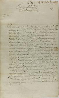 List Bernarda Maciejowskiego biskupa krakowskiego do króla Zygmunta III, Kielce 12.09.1602