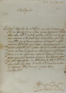 List kardynała Pietro Aldobrandiniego do króla Zygmunta III, Rzym 16.09.1602