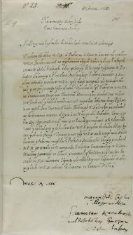 List Stanisława Karnkowskiego arcybiskupa gnieźnieńskiego do króla Zygmunta III, Łowicz 20.01.1603
