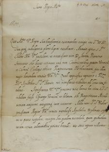 List kardynała Cintiusa Aldobrandiego do króla Zygmunta III, Rzym 03.03.1603
