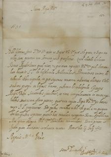 List kardynała Cintiusa Aldobrandiego do króla Zygmunta III, Rzym 19.07.1603