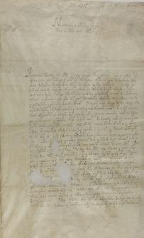 List Adama Pocieja metropolity kijowskiego do krola Zygmunta III, Włodzimierz 16.12.1603
