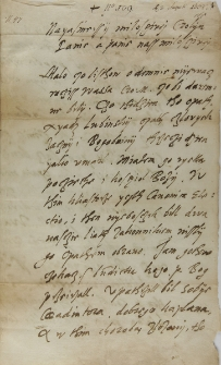 List Wawrzyńca Goślickiego biskupa poznańskiego do króla Zygmunta III, Ciążyń 03.02.1602