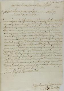 List Alessandro Rangoniego do króla Zygmunta III, Florencja 06.11.1627