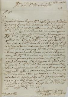 List Alessandro Rangoniego do Pawła Piaseckiego sekretarza królewskiego, Florencja 06.11.1627