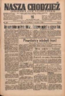 Nasza Chodzież: organ poświęcony obronie interesów narodowych na zachodnich ziemiach Polski 1936.09.06 R.7 Nr207