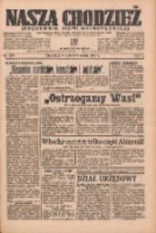Nasza Chodzież: organ poświęcony obronie interesów narodowych na zachodnich ziemiach Polski 1936.09.08 R.7 Nr208