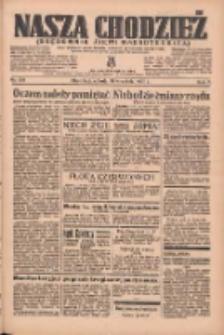 Nasza Chodzież: organ poświęcony obronie interesów narodowych na zachodnich ziemiach Polski 1936.09.19 R.7 Nr218