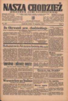 Nasza Chodzież: organ poświęcony obronie interesów narodowych na zachodnich ziemiach Polski 1936.09.23 R.7 Nr221