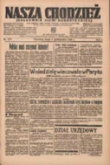 Nasza Chodzież: organ poświęcony obronie interesów narodowych na zachodnich ziemiach Polski 1936.10.07 R.7 Nr233