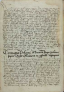 Contractus prelatorum et baronum Regni Polonie super regis elleccione in personas descriptas