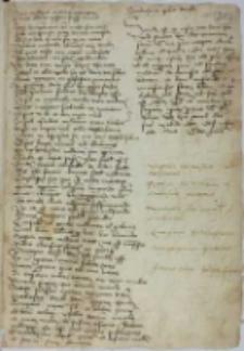 Wiersze łacińskie treści lekarskiej o zarazie z 1395 r.