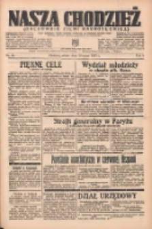 Nasza Chodzież: organ poświęcony obronie interesów narodowych na zachodnich ziemiach Polski 1937.03.20 R.8 Nr65
