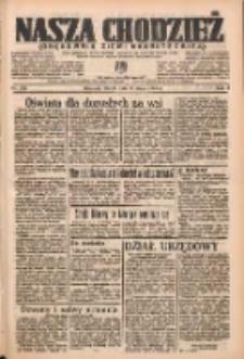 Nasza Chodzież: organ poświęcony obronie interesów narodowych na zachodnich ziemiach Polski 1937.05.11 R.8 Nr106