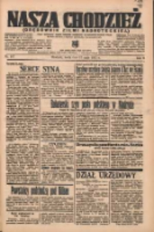 Nasza Chodzież: organ poświęcony obronie interesów narodowych na zachodnich ziemiach Polski 1937.05.12 R.8 Nr107