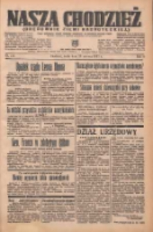 Nasza Chodzież: organ poświęcony obronie interesów narodowych na zachodnich ziemiach Polski 1937.06.23 R.8 Nr141