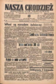 Nasza Chodzież: organ poświęcony obronie interesów narodowych na zachodnich ziemiach Polski 1938.01.14 R.9 Nr10