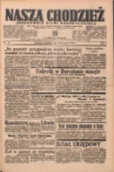 Nasza Chodzież: organ poświęcony obronie interesów narodowych na zachodnich ziemiach Polski 1938.04.10 R.9 Nr83