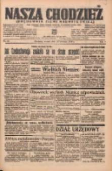 Nasza Chodzież: organ poświęcony obronie interesów narodowych na zachodnich ziemiach Polski 1938.04.12 R.9 Nr84