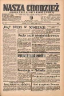 Nasza Chodzież: organ poświęcony obronie interesów narodowych na zachodnich ziemiach Polski 1938.05.25 R.9 Nr119
