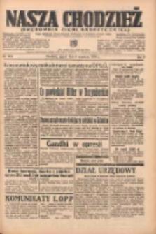 Nasza Chodzież: organ poświęcony obronie interesów narodowych na zachodnich ziemiach Polski 1938.09.09 R.9 Nr206