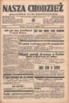 Nasza Chodzież: organ poświęcony obronie interesów narodowych na zachodnich ziemiach Polski 1938.11.15 R.9 Nr261