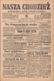 Nasza Chodzież: organ poświęcony obronie interesów narodowych na zachodnich ziemiach Polski 1938.12.28 R.9 Nr296