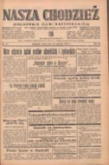 Nasza Chodzież: organ poświęcony obronie interesów narodowych na zachodnich ziemiach Polski 1939.01.14 R.10 Nr11