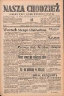 Nasza Chodzież: organ poświęcony obronie interesów narodowych na zachodnich ziemiach Polski 1939.01.27 R.10 Nr22