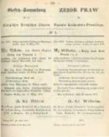 Gesetz-Sammlung für die Königlichen Preussischen Staaten. 1873.03.29 No5