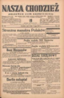 Nasza Chodzież: organ poświęcony obronie interesów narodowych na zachodnich ziemiach Polski 1939.05.05 R.10 Nr103