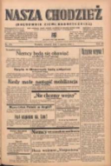 Nasza Chodzież: organ poświęcony obronie interesów narodowych na zachodnich ziemiach Polski 1939.06.01 R.10 Nr124