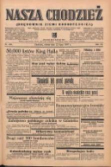 Nasza Chodzież: organ poświęcony obronie interesów narodowych na zachodnich ziemiach Polski 1939.07.22 R.10 Nr166