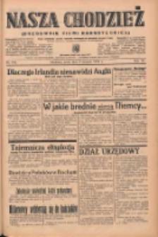 Nasza Chodzież: organ poświęcony obronie interesów narodowych na zachodnich ziemiach Polski 1939.08.02 R.10 Nr175