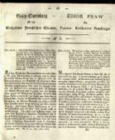 Gesetz-Sammlung für die Königlichen Preussischen Staaten. 1833 No5