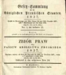 Gesetz-Sammlung für die Königlichen Preussischen Staaten. 1837 No1