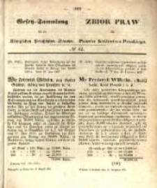 Gesetz-Sammlung für die Königlichen Preussischen Staaten. 1857.08.13 No42