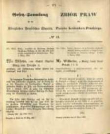 Gesetz-Sammlung für die Königlichen Preussischen Staaten. 1868.03.16 No16