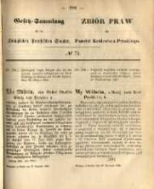 Gesetz-Sammlung für die Königlichen Preussischen Staaten. 1868.11.20 No73